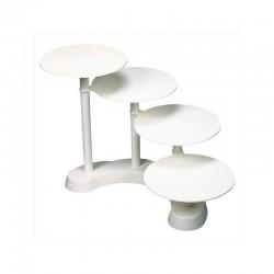 Présentoir à gâteau  4 étages, présentoir blanc gâteau, présentoir 4 étages blanc, présentoir à entremets, présentoir à entremet