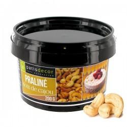Pâte de praliné noix de cajou, pâte praliné noix de cajou pour cuisine et pâtisserie, pot pâte praliné noix de cajou