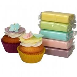 Fondant kit - 5 pastel colours