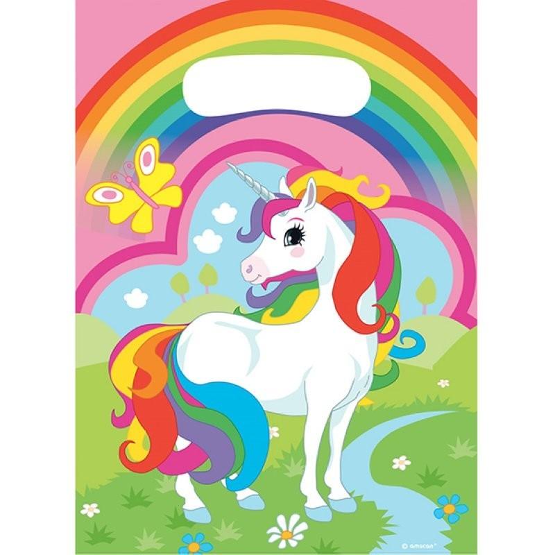 sachet bonbons  Licornes, sachets d'anniversaire Licornes, set sachets d'anniversaire Licornes, sachets bonbons dessin annimé Li