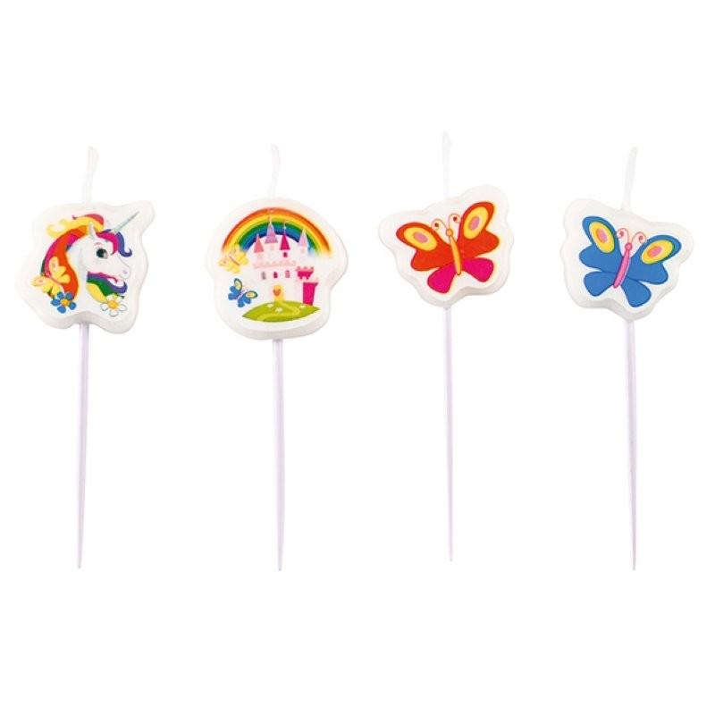 bougies Licorne, anniversaire licorne, matériel anniversaire licorne, accessoires licorne, gâteau licorne