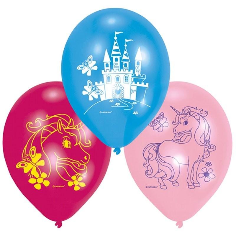 Ballons licorne, anniversire licorne, fête licorne, thème licorne, ballons bleu et rose