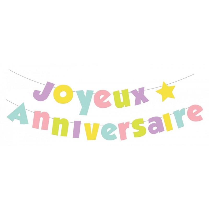 Banderole Joyeux anniversaire