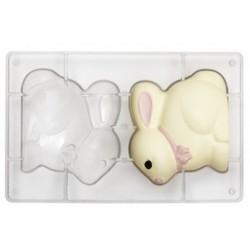 moule pâques, moule lapin, moule pour lapin en chocolat, moule joli lapin, moule chocolat,