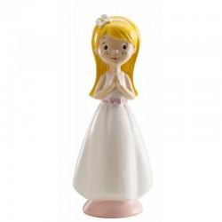 Figurine première communion blonde, figurine 1 ère communion fille, 1 ère communion figurine,