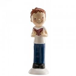 Figurine première communion, figurine première communion garçon, figurine première communion garçon brun, figurine première comm