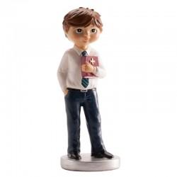 figurine religieuse,Figurine première communion, figurine première communion garçon, figurine première communion garçon brun, fi