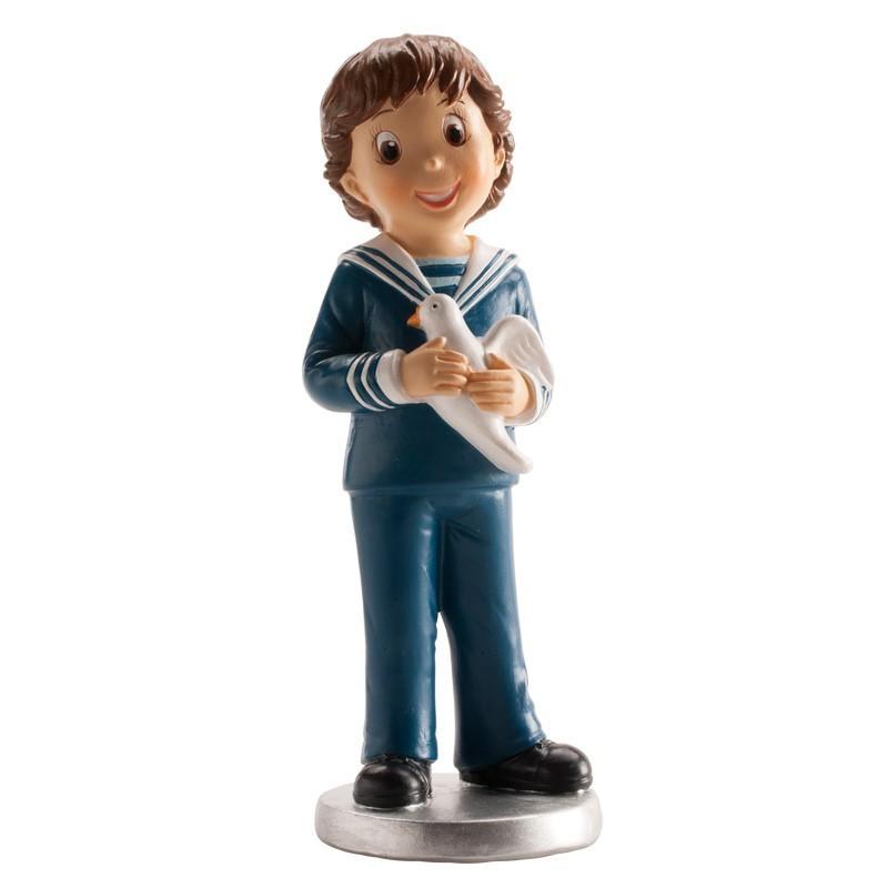 figurine religieuse,Figurine première communion, figurine première communion garçon avec colombe, figurine première communion ga
