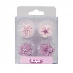 fleurs en sucre lila ,fleurs comestible, fleurs en sucre décoratifs, fleurs en sucre décoratifs, petites fleurs en sucre décorat