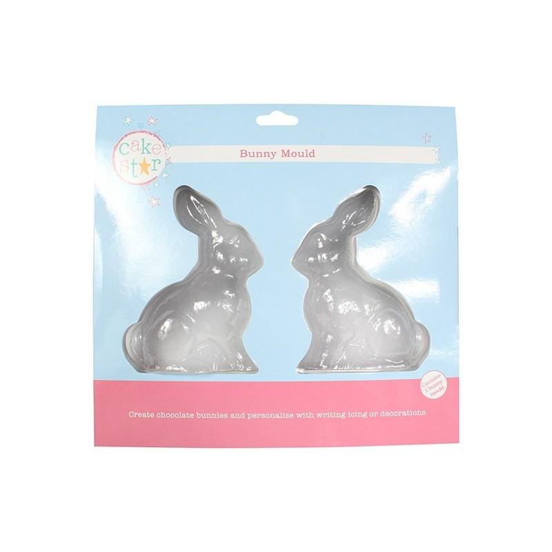 2 moule pour lapins, 2 moule pour lapin en chocolats, moule chocaolat, moules lapin, moule Pâques, moule annimaux, moule plastiq