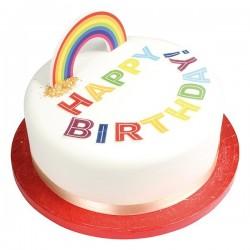 décoration gâteau arc-en-ciel, arc-en-ciel,décoration licorne arc-en-ciel, décoration thème arc-en-ciel