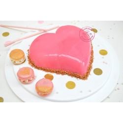 Glaçage miroir rose, glaçage miroir rapide, glaçage miroir rose rapide, glaçage tout prêt, glaçage gâteau miroir, glaçage rose p