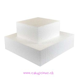 Cake Dummy Carré 20 x 20 cm - 7 cm