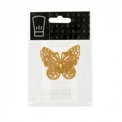 Décoration dentelle papillon or, dentelle or, dentelle dorée, dentelle papillons doré, joli papillon en dentelle, décoration en