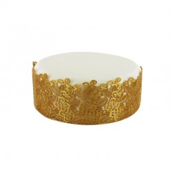 Décoration dentelle dorées, décorations dorées, décorations en dentelles, dentelles comestibles or, dentelles or, dentelle comes