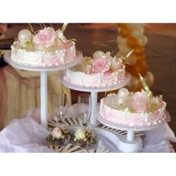 Présentoir à 3 étages, présentoirs à gâteaux, kit présentoirs à gâteaux