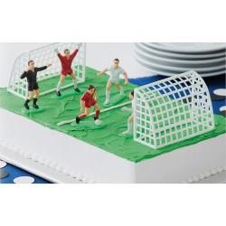 """Décoration """"Football"""", décoration pour gâteau foot, décoration but de foot, décoration pour gâteau but de foot,"""
