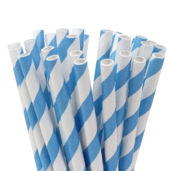 Pailles Cake Pops - Stripes Sky Blue - pk/20