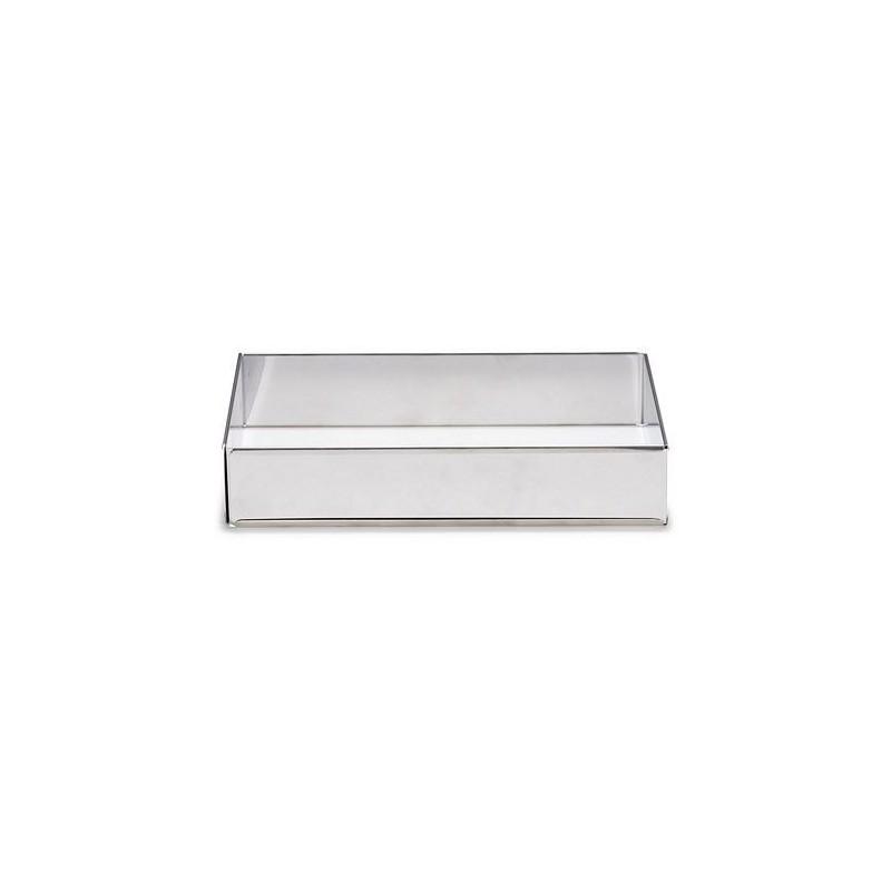 Cadre extensible rectangle inox, cadre extensible rectangulaire, moule pour terrain de foot, moule pour foot, moule rectangle
