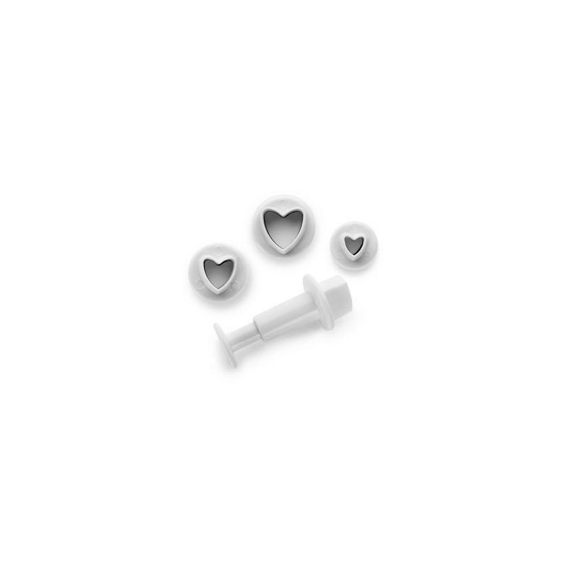 Emporte-pièce cœur avec éjecteur, emporte-pièce coeur, set emporte-pièces coeurs, forme coeur, emporte-pièces petits coeurs