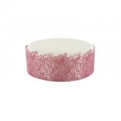 Décoration dentelle rose, dentelle comestible, dentelle comestible rose, , dentelle rose, décoration dentelle