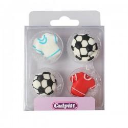 Décoration en sucre Football, sucre foot, décorations sucre foot, décorations comestibles foot,