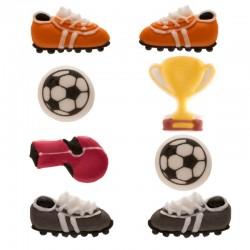 Petits sucres football, décoration foot comestible, sucre foot, décoration foot pour gâteau, set décorations foot, set décoratio