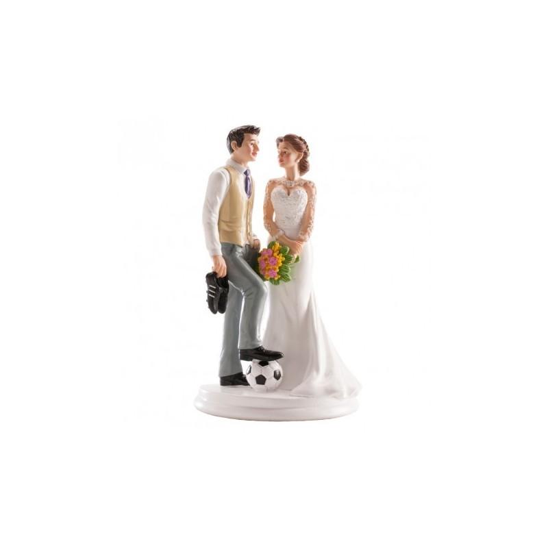 Figurine Mariage en résine Football 18cm