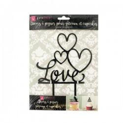 """topper love, décoration love, décoration gâteau love, décoration amour , décoration gâteau amour,Cake Topper """"LOVE"""""""