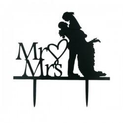 Cake Topper Mr & Mrs bonheur,topper bonheur, décoration amour, décoration gâteau mariage, décoration mr&mrs , décoration gâteau