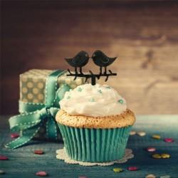 Cake Topper oiseaux amoureux ,bonheur,topper bonheur, décoration amour, décoration gâteau mariage, décoration oiseaux, décoratio