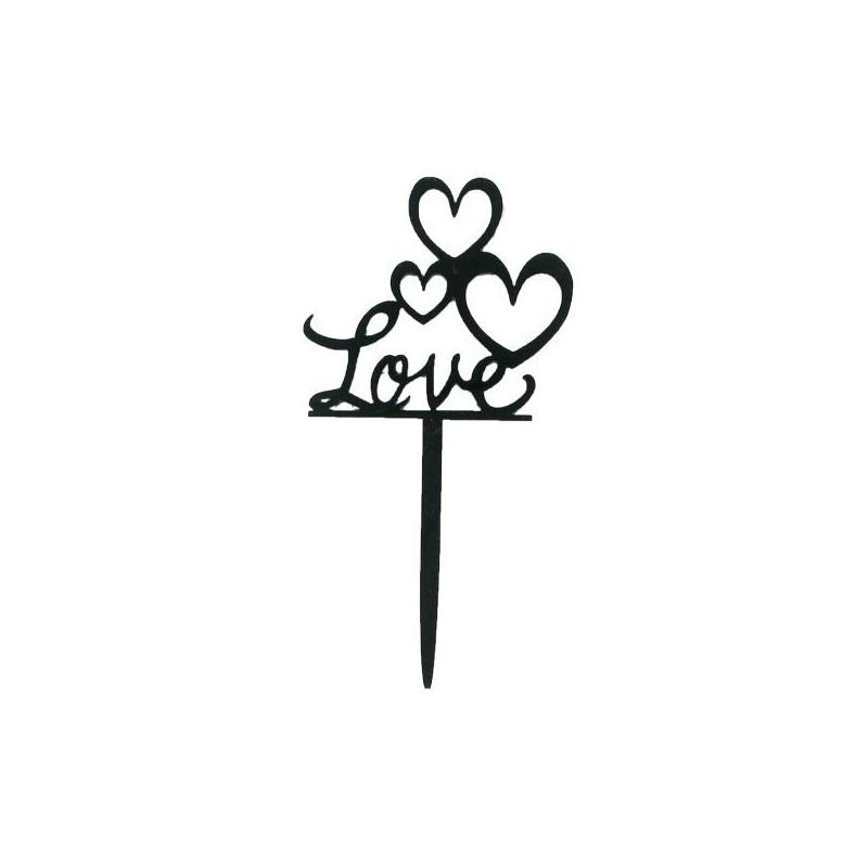 Cake Topper love,bonheur,topper bonheur, décoration amour, décoration gâteau mariage, décoration love, décoration gâteau mariage