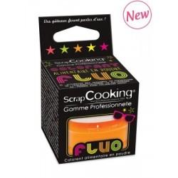 Colorant poudre orange fluo, colorant fluo, colorant alimentaire en poudre, colorant alimentaire fluo, pâtisserie fluo, colorant