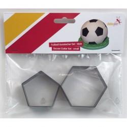 Emporte-pièce football petit, emporte-pièce foot, emporte-pièces gâteau foot, emporte-pèce gâteau ballon de foot, gâteau bollon