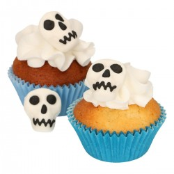 Décorations en sucre têtes de mort, tête de mort comestible, décorations comestibles, tête de mort, gâteau tête de mort, décorat