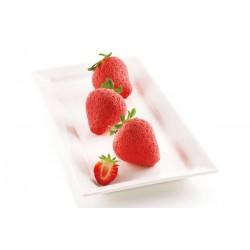 """Moule en silicone """"Fraise"""", moule forme de fraise,mnoule silicone forme de fraise, pâtisserie forme de fraise, set moule silicon"""
