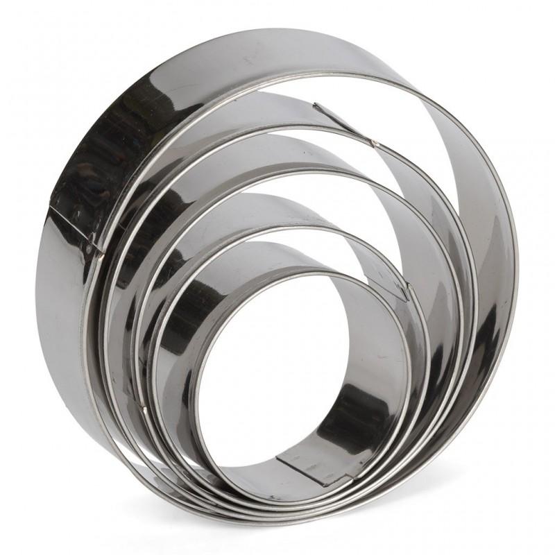 Lot emporte-pièces ronds en inox, emporte-pièces rond inox, emporte-pièces ronds,