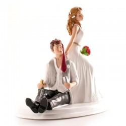 Figurine Marriage en résine éméchés de face