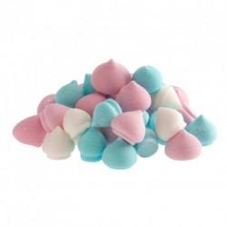 Mix de mini meringues colorées, meringues colorées, minies meringues, décoration gâteau meringues, décorations minies meringues