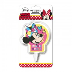 Bougie Minnie, bougie 2d Minnie, Minnie, décorations Minnie