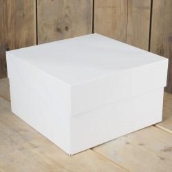 Boîte à gâteau - 25 x 25 cm, boîte pour gâteau, boîte gâteau carton, boîte de transport pour gâteau