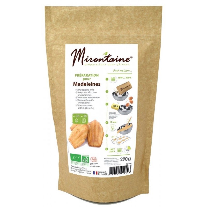Préparation BIO pour madeleines, mix madeleine, madeleine toute prêtes