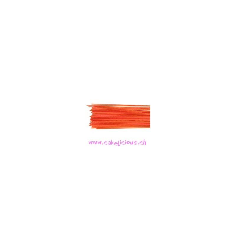 """Floral Wire"" Metallic Red Set/50 - jauge 24"