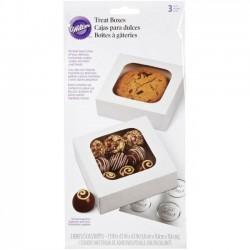 Boîte à petits gâteaux, boîte à biscuits, boîte à macarons, boîtes en carton pour biscuits, set de boîte pour biscuits