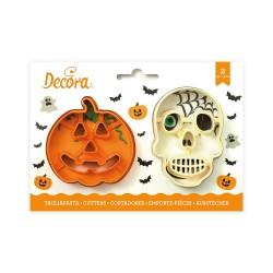 Emportes-pièces Halloween crâne et citrouille, halloween, emporte-pièce tête de mort, emporte-pièce citrouille, emporte-pièce ha