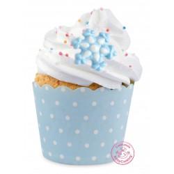 Sucre flocons, sucre de décoration, sucre flocons de décoration, décorations gâteau, décorations thème reine des neige