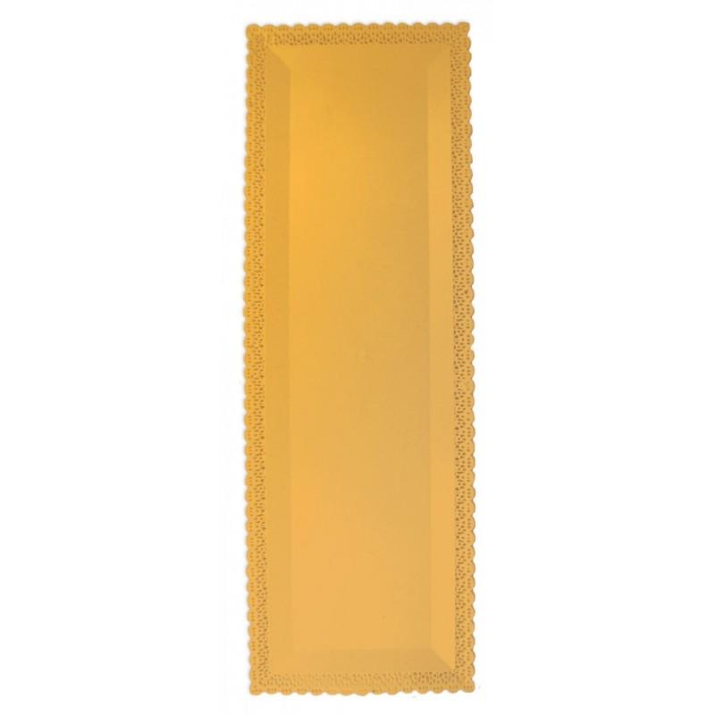 Plateau dentelle or, plateau ractangulaire brodé, plateau rectangulaire brodé doré, plateau rectangulaire pour gâteau