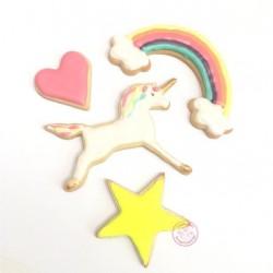 Découpoirs Licorne, emporte-pièce licorne, kit emporte-pièces licorne, emporte-pièce arc-en-ciel, emporte-pièce étoile