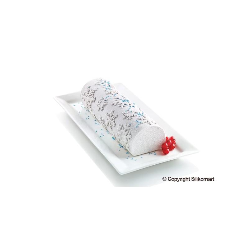 Tapis à bûche - Effet flocon de neige, tapis impression flocon, tapis pour bûches, tapis flocon pour bûche