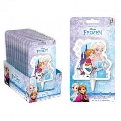 Bougie Anna - Elsa - Olaf 2D, bougie reine des neiges, bougie dessin annimés, bougie frozen 2d